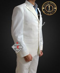 Gatsby Suit has peak lapel with one back vent from high quality linen taken from movie The Great Gatsby, Get narrow style Leonardo DiCaprio Off White Suit Cool Suits, Suits You, Gatsby Costume, Great Gatsby Theme, White Suits, One Back, Hollywood Celebrities, Leonardo Dicaprio, Off White