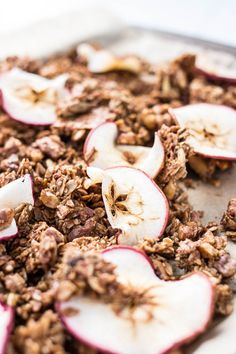 Easy Cinnamon Apple Granola with dried apples, walnuts, pepitas, and hemp hearts, is gluten-free, vegan, and refined sugar-free.