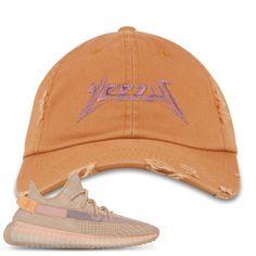 0e879a78c Yeezy Boost 350 Clay V2 Sneaker Match Yeezus Burnt Orange Distressed Dad Hat