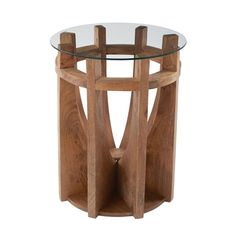 Dimond Home 985-037 Wooden Sundial Side Table