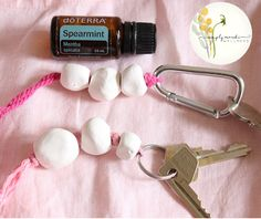 D.I.Y Essential oil Clay bead Key chain and lanyard