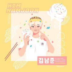 RM *Fan art - Map of the Soul: Persona Bts Selca, Dibujos Cute, Bts Drawings, Fan Art, Bts Chibi, Bts Fans, Kpop Fanart, Bts Members, Rap Monster