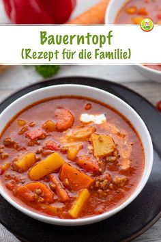 Farm pot for the whole family – super easy – my room - Rezepte Best Appetizers, Appetizer Recipes, Slow Cooker Recipes, Cooking Recipes, Lunch Recipes, Healthy Recipes, Healthy Food, Learn To Cook, I Love Food