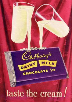 Cadbury Chocolate Gift Box Dairy Milk Chocolate Present Personalised Send Direct Vintage Sweets, Vintage Candy, Retro Sweets, Vintage Metal, Retro Ads, Vintage Advertisements, 1950s Advertising, A4 Poster, Poster Prints