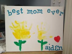 Crafty Time:  Mother's Day/Spring or Summer Handprint Art :)