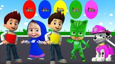 Colors for Children to Learn with Ryder Paw Patrol,Masha,Catboy Pj Masks...