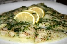 Baked Dory Fish with Coriander Leaves and Lemon