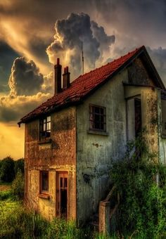 Abandoned farm in Ireland