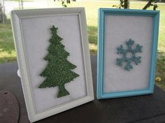 Ramblings from the Sunshine State: Glittery Christmas Art