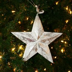 Silver star ornament from Nantucket Home