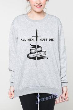 Valar Morghulis Shirt Sweater All Men Must Die Game of Thrones T-Shirt Women Grey Sweatshirt Jumper Unisex Size S M L