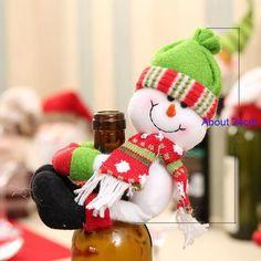 Christmas Snowman Hug Bottle Decoration