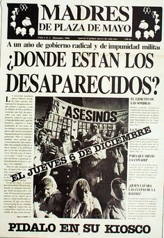 """""""Where are the """"disappeared"""" in Argentina"""" Mothers meet at the Plaza de Mayo Spanish Teacher, Spanish Classroom, Teaching Spanish, Ap Spanish, Spanish Culture, Middle School Spanish, First Year Teaching, South Of The Border, Oppression"""