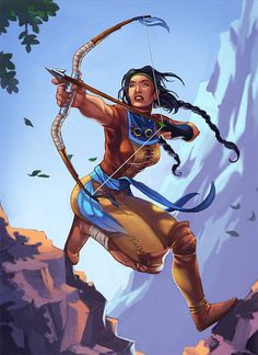 indian tribal archer illustrations artworks drawings