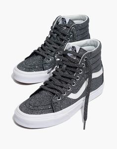 a1651b5a158276 Madewell Vans Unisex SK8-Hi Reissue High-Top Sneakers in Black Glitter  Glitter Vans