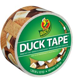 """ShurTech 1.88""""x10yds Patterned Duck Tape-S'mores Please"""