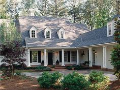 Eplans House Plan: This lovely and flexible design begins with a wrapping front porch, perfect for sitting and sipping iced tea on a summer evening. Inside, head to the fireplace-warmed living room, which opens through sets o