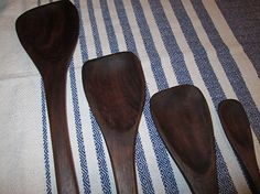 Amazon.com: Handcrafted All four sizes of our popular Long Handle Walnut Wooden Spoon, Large, Medium, Small, and Mini Size: Handmade