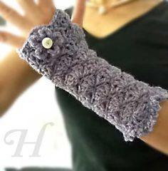 Free Crochet Wrist Warmer Patterns   Handmade Crafts - Long Romance Handwarmers Fingerless Gloves