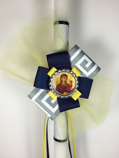 Easter Candle, Orthodox Easter, Greek Easter, Greek Key, My Etsy Shop, Candles, Lent, Unique Jewelry, Handmade Gifts