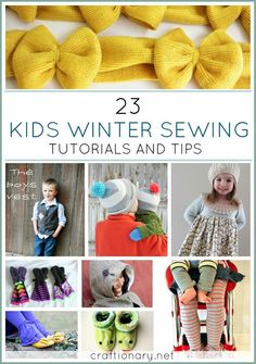 Kids Winter Sewing tutorials and tips