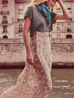 Spring 2013: Day Dreamer #pattern #neutral #fashion #sheer #skirt #inspiration