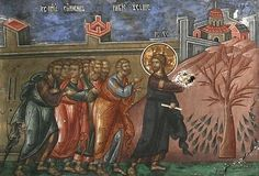 Christ cursing the fig tree. Holy Monday. Click for a reflection  on Holy Week by Metropolitan Anthony (1914-2003). #Orthdox
