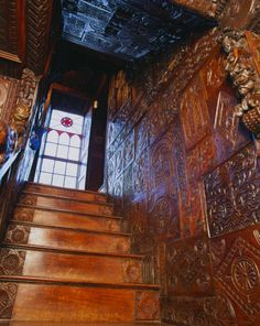 carved staircase