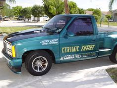 Cerma Race Truck a 20 year old GMC with original miles. A real smoker restored by the use of ceramic technology. 20 Years Old, Fuel Economy, Restoration, Monster Trucks, Engineering, Racing, Technology, Tech, Lace