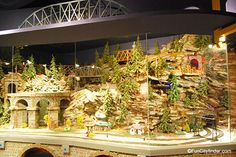 Picture of an Indianapolis Children's Museum train exhibit in Indianapolis, Indiana