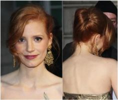20 Ways to Wear a Messy Updo: Messy Prom Updos: Jessica Chastain