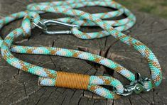 Multi color dog leash available on Etsy Collar And Leash, Collars, Rope Dog Leash, Climbing Rope, Blue Dog, Pit Bulls, Big Dogs, Leather Cord, Pugs