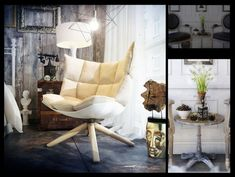 Wire frame pendant light > Artists' Studios in Modern, Eclectic & Vintage Styles