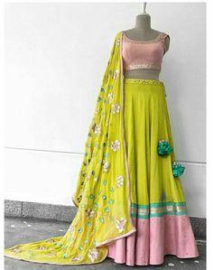 Lehenga Saree Design, Lehenga Designs, Sari, Half Saree Designs, Choli Designs, Indian Attire, Indian Wear, Indian Dresses, Indian Outfits