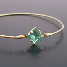 Seafoam Green Bracelet Michaela Dainty Gold by FrostedWillow, $12.95