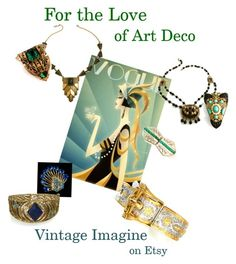 For The Love of Art Deco by vintageimagine on Polyvore featuring vintage, women's clothing, women's fashion, women, female, woman, misses and juniors