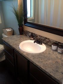 7 Determined Tips: Slate Counter Tops Back Splashes laminate counter tops faux granite. Cleaning Granite Counters, Countertop Redo, Cheap Countertops, Formica Countertops, Kitchen Countertop Materials, Butcher Block Countertops, Bathroom Countertops, Painting Countertops, Butcher Blocks