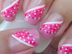 Nail Art - October in Pink: Pretty Hanbok - Decoración de uñas - Breast Cancer Awareness Month check out www.ThePolishObsessed.com for more nail art ideas.