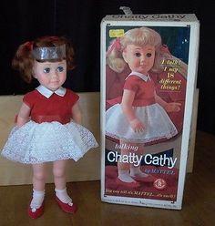 1962 Chatty Cathy Doll Dee Cee Canada Original Clothes Box