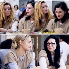Love how piper and Alex just look at each other when nicky and Lorna said that. It warms my heart!