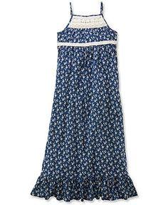 Ralph Lauren Girls' Floral Maxi Dress - Kids Girls Dresses - Macy's