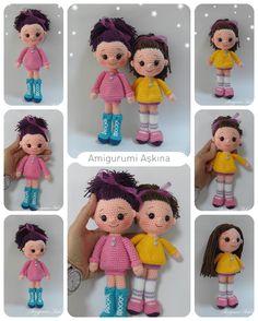 Amigurumi Cici Kızlarım-Amigurumi Örgü Oyuncak Bebek ☆