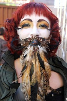 Women In Fake Beards And Mustaches Are Awesome