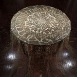 Heirloom: A Tablecloth Created with Lace-like Patterns of Collected Seeds by Rena Detrixhe