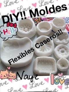 diy moulds with cold porcelain? Polymer Clay Crafts, Diy Clay, Resin Crafts, Polymer Clay Jewelry, Diy Crafts, Porcelain Clay, Cold Porcelain, Crea Fimo, Diy Silicone Molds