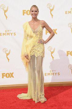 Emmy Awards 2015: красная дорожка и триумфаторы телевизионного «Оскара» : Хайди Клум / фото 2