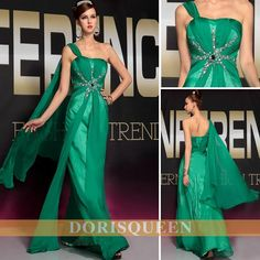 long evening dresses green prom dresses party dresses 2014 one shoulder