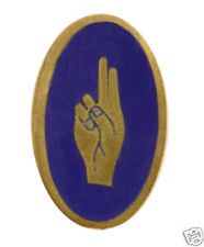 Early Girl Scout promise pin