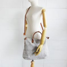 Crossbody Curve Bags Hand woven and Botanical dyed Cotton Natural-Brown Color-www.tanbagshop.com