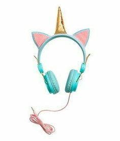 Turquoise& On-ear headphones in plastic and metal with a corded cable. Glittery headband with decorative appliqués. Fits mobile phones with a mm Unicorn Kids, Real Unicorn, Cute Unicorn, Rainbow Unicorn, Unicorn Head, Unicorn Store, Unicorn Birthday Parties, Unicorn Party, It's Your Birthday